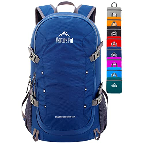NODLAND Light Weight Backpack 30L Foldable Water-Resistant Daypack Hiking Outdoor Camping Backpacks for Men and Women Blue
