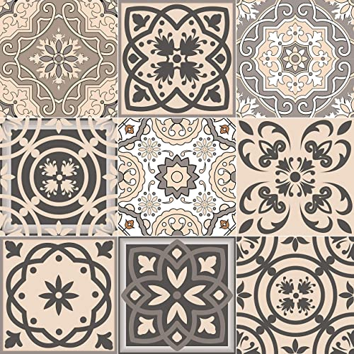 Buy Mi Alma Tile Stickers 24pc Kitchen Backsplash Bathroom Vinyl Waterproof Peel And Stick Talavera Wall Decals 6x6 Soft Cream Online In India B07ztm6l88