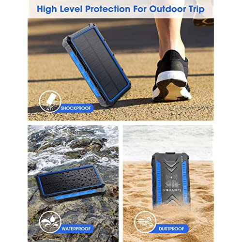 Flashlights Cell Phone Charger for Camping Outdoor IP66 Waterproof ...