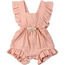New Newborn Baby Girls Floral Rompers Urbling Infant Long Sleeves Ruffle Sweet Bow Thicken Jumpsuits Playsuits for 0-2T