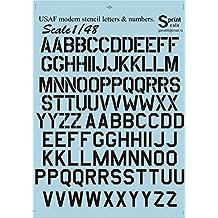 """RAF WW2 Serial Letters Numbers 24/"""" Black 1//48 decals, Fantasy Printshop 886 BK"""