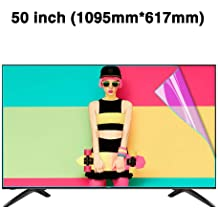 CUUYQ 42 Inches TV Screen Protector Anti-Blue Light Non-Glare Ultra-Clear Protector Film Anti-Scratch Eye Protection for LCD OLED /& QLED 4K HDTV,A LED