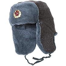 7e9a96588eb Ushanka-Hat Russian Army Ushanka Authentic Winter Hat Soviet USSR Army  Soldier Red Star WW2