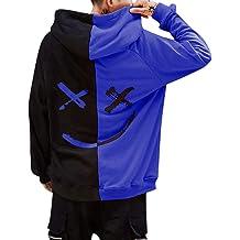 c41979ee POQOQ Hoodie Sweatshirt Unisex Teen's Smiling Face Fashion Print Jacket  Pullover