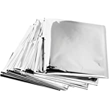 Camping Emergency Space Blankets Outdoors Survival Kit 4-Pack Hiking HanleyDepot Emergency Mylar Thermal Blankets Perfect Survival Gear for Adults and Kids /