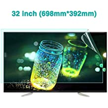 YBDXMM 32-inch TV Screen Protector for LCD Anti Blue Light//Ultra-Clear//Anti-Glare//Anti-Scratch Screen Protector LED /& Plasma HDTV,704mm395mm
