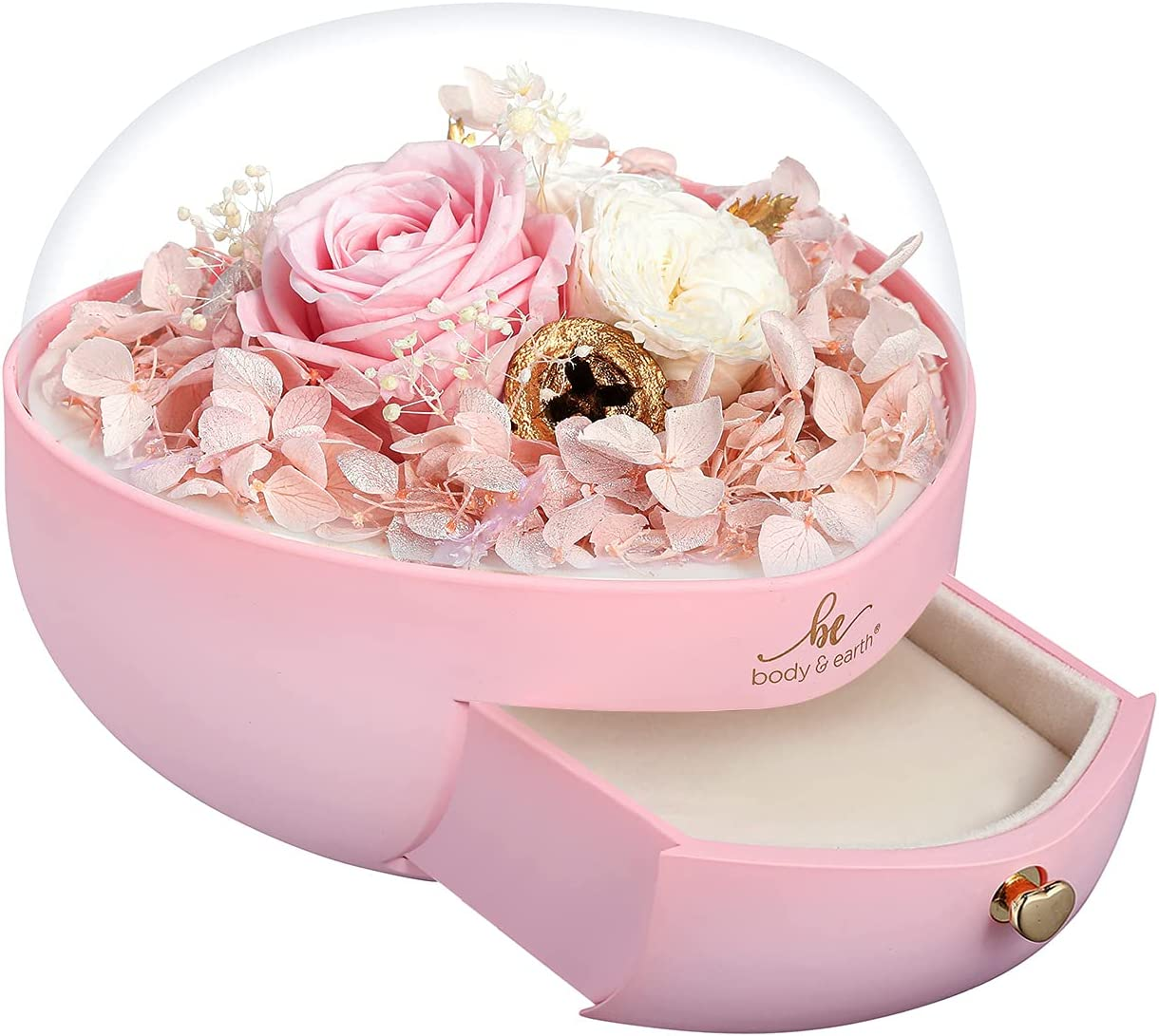 Buy Preserved Rose Flower Box,, Birthday Gifts for Women, Heart Boxes for Preserved Flowers, Pink Rose Gifts with Luxury Jewelry Gift Box, Valentines Day, Wedding Anniversary Decor Gift Online in India. B08PL21DWW