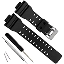 992078475727 OliBoPo Natural Resin Replacement Watch Band Strap for Casio Mens G-Shock  GD120 GA