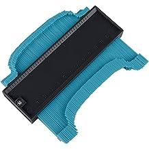 ZAILHWK Contour Gauge with Locking Mechanism,5 Inch Profile Gauge Measure Ruler Contour Duplicator Irregular Edge Shape Measuring Tool Duplicator Tool