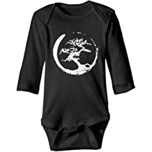 Bonsai Tree in Yin Yang Baby Boy Long Sleeve Romper Jumpsuit Baby Rompers Onsies