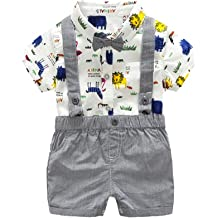 Vinjeely Toddler Baby Boys Summer Cartoon Dinosaur Print Short Sleeve T-Shirt Tops 1-6 Years Old