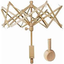 Fiber Yarns or Other Strings Winder Holder Valyria Wooden Umbrella Yarn Swift Bobbin Winder Winding Lines
