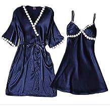 WaiiMak Womens Sleepwear Lace Pajamas Set Shorts Nightwear Camisole Short Sets Lingerie Short Sleepwear