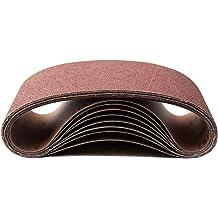 6 Pack 2 X 48 Inch 220 Grit Aluminum Oxide Multipurpose Sanding Belts