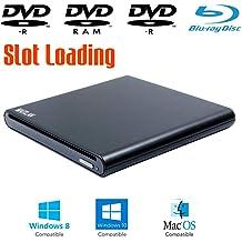 3-D Blue ray Movies Players 8X DVD+-RW DL Writer USB 3.0 Portable Mobile External 6X Blu-ray Burner Optical Drive for Acer Aspire E Series E15 E 15 E5-575-33BM E5-576G-5762 S 13 5 3 One 7 1 Laptop