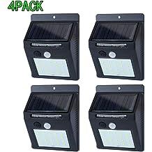 IP65 Waterproof Adjustable Angle Spotlights for Front Door Yard Garden Garage Patio Deck 60 LEDs Solar Motion Sensor Wall Light Outdoor with Wireless Remote Control Sumaote Outdoor Solar Lights