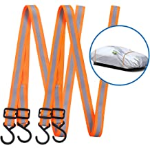 Van Cover SUV Cover Truck Cover Car Cover Clips Clamps and Bungee Cords Tie Downs Kit Withstand 60mph Gust Wind Fits for Sedan Cover Heavy Duty Car Cover Straps Wind Protector