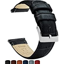 a7a3d91dd831 Barton Alligator Grain - Quick Release Leather Watch Bands - Choice of  Colors - 18mm