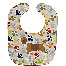Large Carolines Treasures Easter Eggs Baby Bib Beagle Tricolor