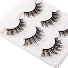 37f82ca06a2 3D False Eyelashes Extensions 3 Pairs Long Lashes Strip with Volume for  Women'