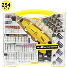 SPTA RT388AC Advanced Multifunctional Rotary Tool Kit with 388 Accessories and 4 Variable Speed Attachments for Home and Crafts