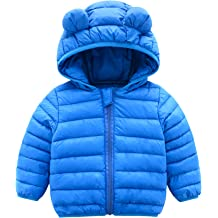2fa1db1f7df CECORC Winter Coats for Kids with Hoods (Padded) Light Puffer Jacket for Baby  Boys