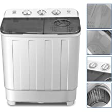 RV Camping Swim,13 lbs Load Capacity,21.26x13.78x13.39inch Dorms GOTOTOP Portable Washing Machine,Mini Full-Automatic Compact Laundry Washer with Timer Control for Apartments
