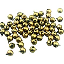 Jingle Bells for Crafts,iKammo 12mm Small Bells DIY Bells Christmas Crafts for DIY Bracelet Anklets Necklace Knitting//Jewelry Making Colorful,100pcs