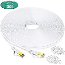 Ealona LAN Cable 2 Pack 6.5 Feet 2 Meters Cat-7 SSTP Network Patch Cord