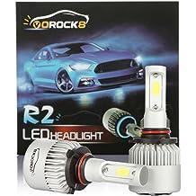 A Pair NSLUMO HB3 9005 LED Headlight Bulbs FLIP Chips LED High Beam Headlight Bulb Conversion Kit 50W 6000K 5600 Lumens White Bright Headlamp with Resistor Decoder 2 Years Warranty