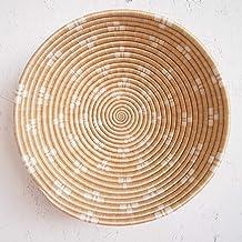African Bread Basket Musoma//Sisal and Sweetgrass//Woven Basket//Made in Rwanda//Black Tan