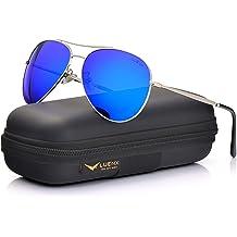 793e0d98eab2 LUENX Men Aviator Sunglasses Polarized Women - UV 400 with case 60MM