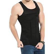 Men Black AceList Mens Compression Shirt Tank Top Sleeveless Cooling Shirt Workout Shirt Trainer Vest Athletic Sport