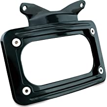 Kuryakyn 3116 Motorcycle Accessory Side Mount License Plate Holder Clamp for 1986-2017 Harley-Davidson Softail Motorcycles without Swingarm Covers or 1-1//8 Diameter Tubing Gloss Black