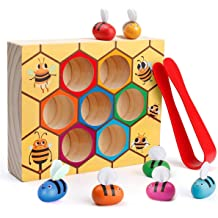 Avenor Wooden Reading Blocks 5 Set of Fun Montessori Toys for Toddlers Kindergarten Reading Toys for Children W// Easy-Grip Handles Stem Boys /& Girls Gift
