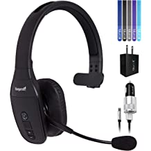b6e489b286d VXI BlueParrott B450-XT Noise Canceling Bluetooth Headset Bundle with USB  Charging Cable, Blucoil Micro USB Car Charger, USB Wall Adapter and .
