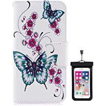 Cover for Samsung Galaxy S10 Leather Wallet Cover Kickstand Extra-Protective Business Card Holders with Free Waterproof-Bag lilac4 Samsung Galaxy S10 Flip Case
