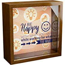 6x6x2 Memorabilia Shadow Box Wooden Keepsake with Glass Front for Couple Gifts for Husband Unique Gift for Husbands Ideal to Collect Special Items Wall Decor Frames for Bedroom