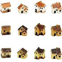 Tyga/_Thai Brand Set 5 pcs Terrarium-Mushroom-Stake Terrarium Mini Mushrooms Brown Color Stake Miniature Dollhouse Fairy Garden Accessories