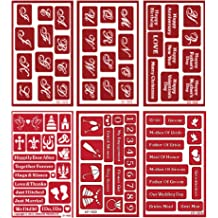 Over n Over Reusable Self-Stick Etching Stencil for Glass - Bundle of Two Sets or Stamping Wedding and Engagement