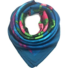 999a18e8967ff YOUR SMILE Silk Like Scarf Women's Fashion Pattern Large Square Satin  Headscarf