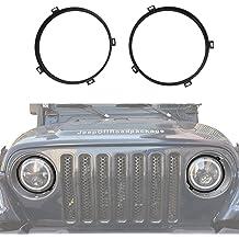 CarPartsDepot 1991-1996 JEEP CHEROKEE LEFT HEADLAMP DOOR HEAD LIGHT BEZEL DRIVER ASSEMBLY