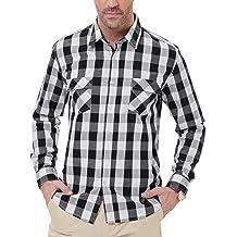 62ce6b3f332ab PAUL JONES PJ Men's Button Down Slim Fit Buffalo Plaid Shirt