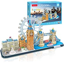 Buildream 3D Puzzles for Kids Ages 5-12 Famous Architecture,110 Puzzle Pieces Gift Pack: Multipack of 4 Puzzles in Individual Color Boxes and can be Used as 4 Gifts