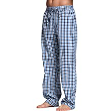 Men's Sleep & Lounge Popular Brand Plus Size 100% Cotton Mens Summer Woven Short-sleeved Shorts Pajamas Set Male Sleep Classic Plaid Style V-neck Home Sets Excellent In Cushion Effect