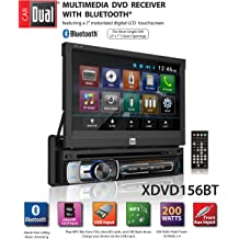 USB /& MP3 Player Dual Electronics DC415i Multimedia Detachable 3.7 inch 10 Character LCD Single DIN MOSFET Car Stereo with Built-In CD