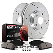 Power Stop K3047 Front Brake Kit with Drilled//Slotted Brake Rotors and Z23 Evolution Ceramic Brake Pads