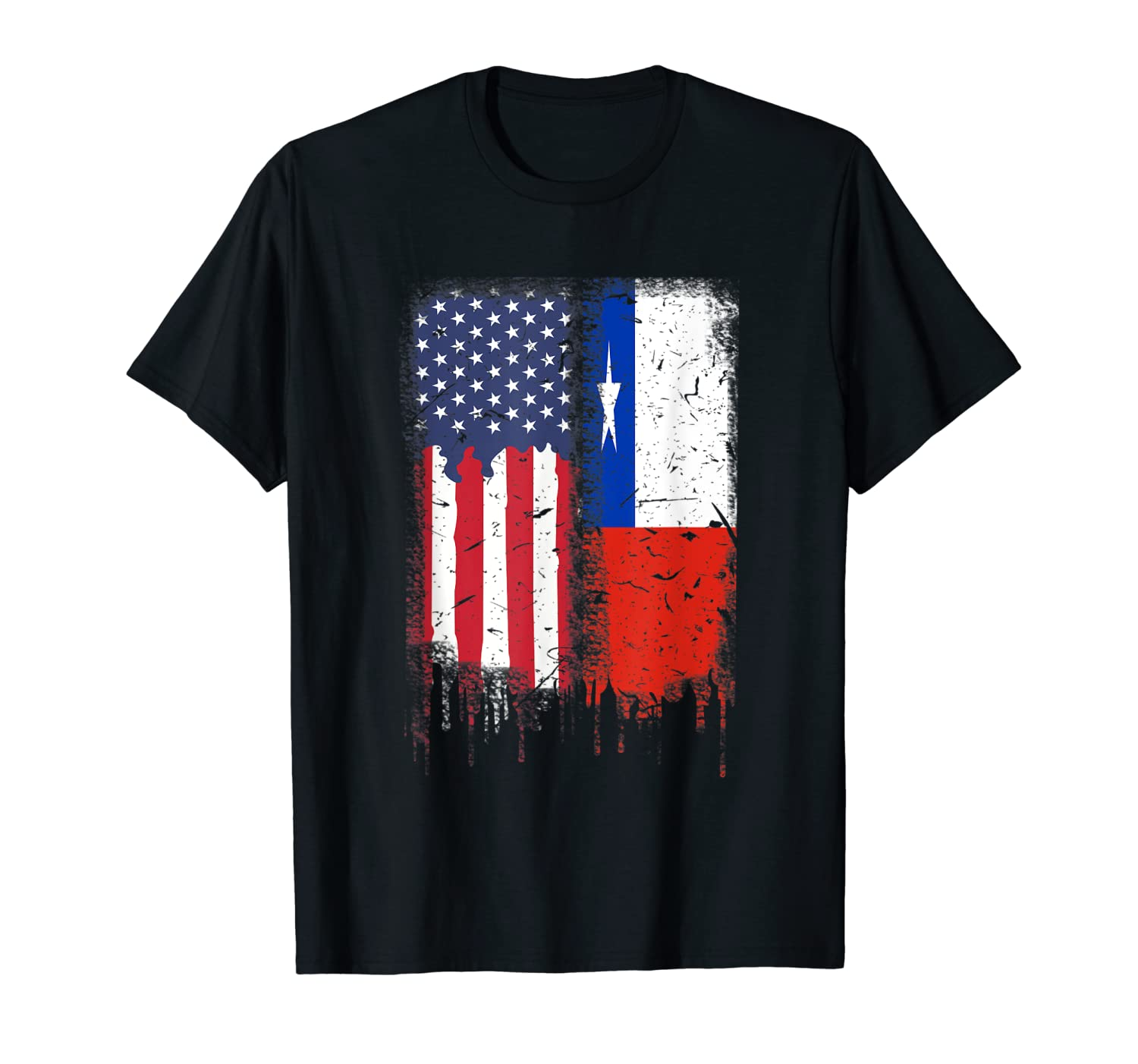 American Flag Guitar Women/'s V-Neck T-Shirt Rock and Roll Music Art 4th of July